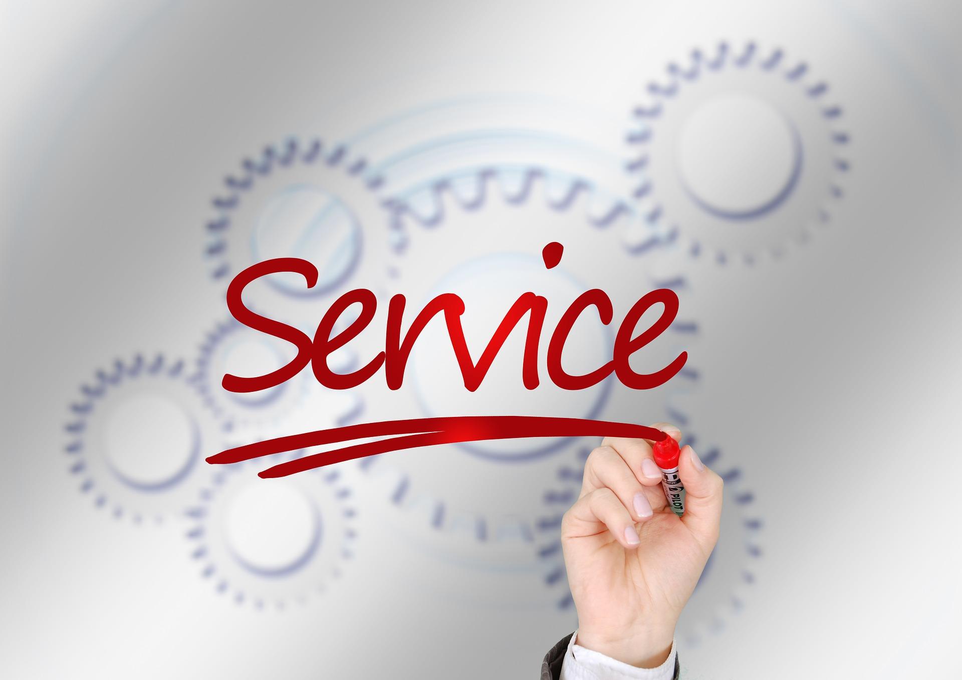 Service client en centre d'appels